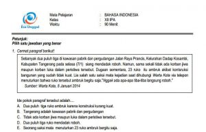 Download Prediksi soal UN SMA Bahasa Indonesia Paket A Terbaru IPA IPS