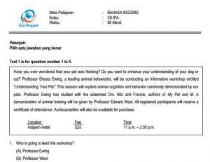 Download Prediksi soal UN SMA Bahasa Inggris Paket A IPA IPS Terbaru