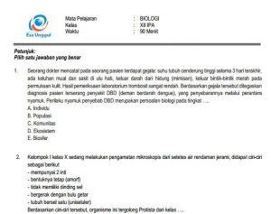 Download Prediksi soal UN SMA Biologi Paket A Terbaru