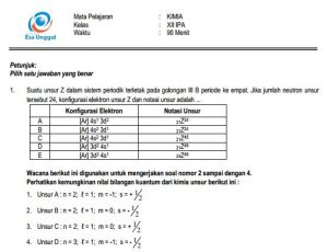 Download Prediksi soal UN SMA Kimia Paket A Terbaru