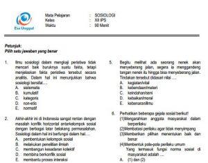 Download Prediksi Soal Un Sma Sosiologi Paket A Dan Kunci Jawaban Cari Soal