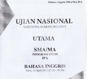 Soal UN SMA Bahasa Inggris 2015 Paket 5