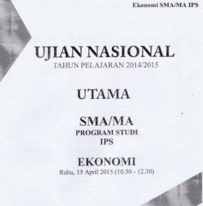 Soal Un Sma Ekonomi 2015 Paket 2 Untuk Latihan Ujian Cari Soal