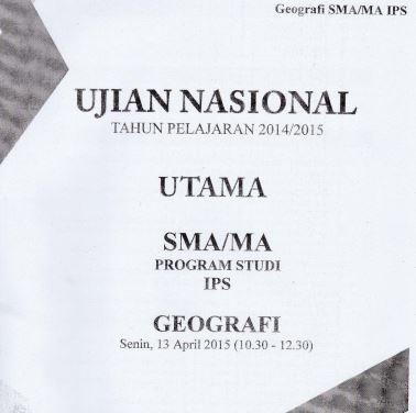Soal UN SMA Geografi 2015 Paket 1 Untuk Latihan Ujian