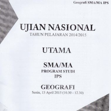 Soal UN SMA Geografi 2015 Paket 2 Untuk Latihan Ujian