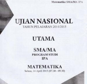 Soal UN SMA Matematika IPA 2015 Paket 3