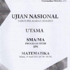 Soal UN SMA Matematika IPS 2015 Paket 4