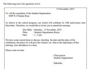 contoh soal UN SMP Bahasa Inggris dan kunci jawaban pembahasan