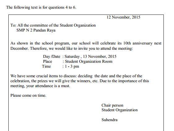 Contoh Soal UN SMP Bahasa Inggris & Kunci Jawaban
