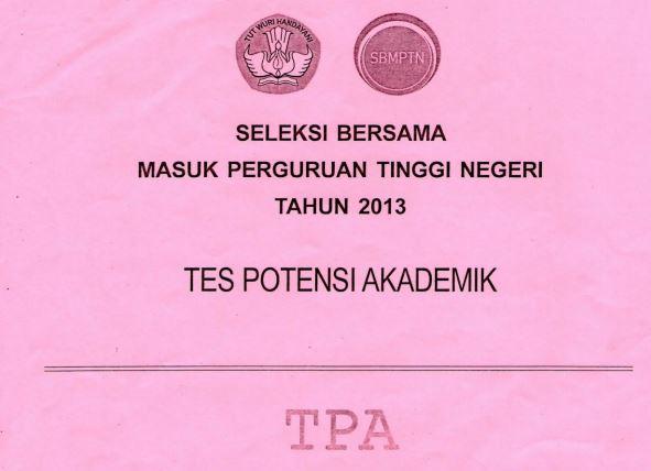 Download Soal SBMPTN 2013 TPA Kode 111