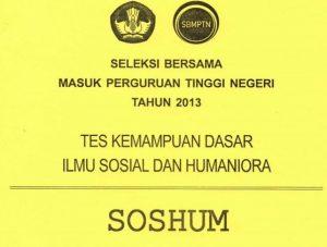download soal sbmptn 2013 TKD Soshum Tes Kemampuan Dasar Soshum