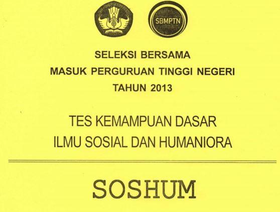 Download Soal SBMPTN 2013 TKD Soshum Kode 443
