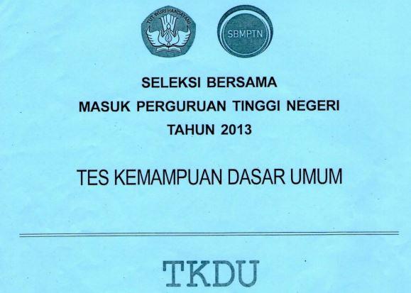 Download Soal SBMPTN 2013 TKD Umum Kode 121