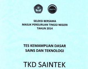 download soal sbmptn 2014 TKD Saintek