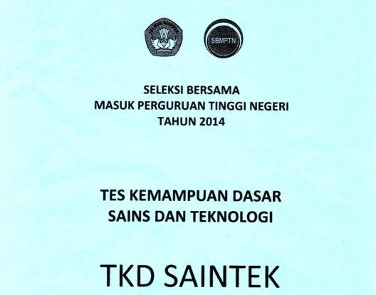 Download Soal SBMPTN 2014 TKD Saintek Kode 512