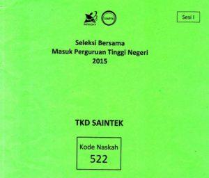 download soal sbmptn 2015 TKD Saintek