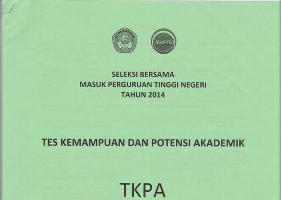 Download Soal SBMPTN TKPA 2014  dan Kunci Jawaban