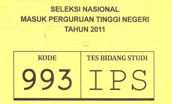 Download Soal SNMPTN 2011 Tes Bidang Studi IPS Kode 993
