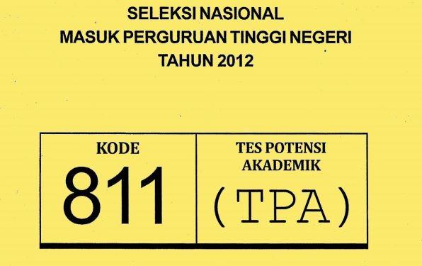 Download Soal SNMPTN 2012 TPA Tes Potensi Akademik Kode 811