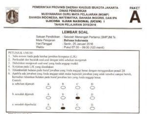 prediksi soal UN SMP Bahasa Indonesia Paket A dan Pembahasan