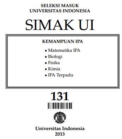 Soal SIMAK UI 2013 Kemampuan IPA Paket 131 Untuk Latihan