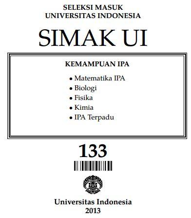 Soal SIMAK UI 2013 Kemampuan IPA Paket 133 Untuk Latihan
