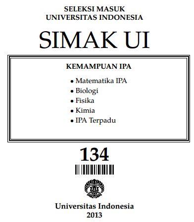 Soal SIMAK UI 2013 Kemampuan IPA Paket 134 Untuk Latihan