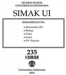 Soal SIMAK UI 2013 Kemampuan IPA Paket 235