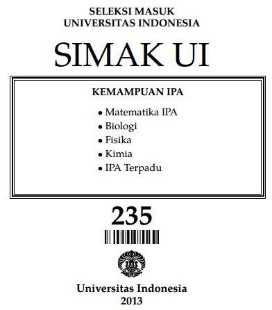 Soal SIMAK UI 2013 Kemampuan IPA Paket 235 Untuk Latihan