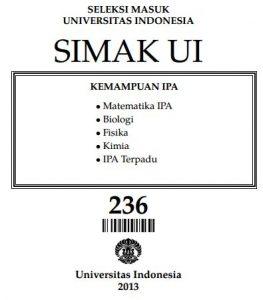 Soal SIMAK UI 2013 Kemampuan IPA Paket 236